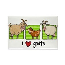 3 goats Rectangle Magnet
