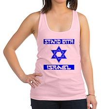 StandWithIsraelFlag Racerback Tank Top