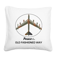 B-52-Peace Square Canvas Pillow
