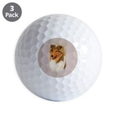 Rough Collie 2 jewel Golf Ball