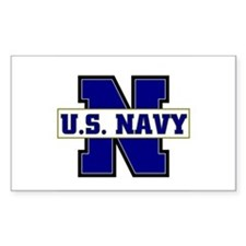 U S Navy Rectangle Decal