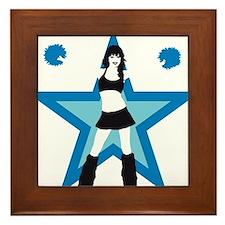 Cheerleader Framed Tile