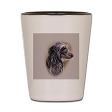 Scottish Deerhound jewel Shot Glass