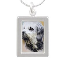 Dandie Dinmont jewel Silver Portrait Necklace