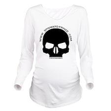CREWMEMBER-SKULL-LOG Long Sleeve Maternity T-Shirt