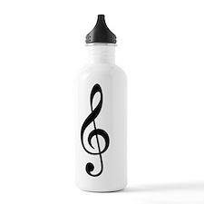 Treble Clef Music Symb Water Bottle