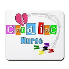Cardiac Nurse EKG cables Mousepad