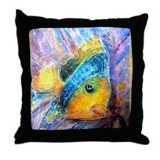 Tropical fish! Bright, art! Throw Pillow