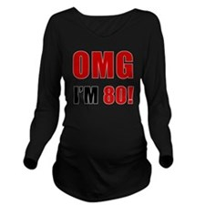 omg80 Long Sleeve Maternity T-Shirt