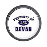 Property of devan Wall Clock
