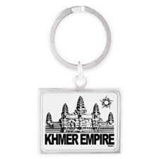 khmer empire small design Landscape Keychain