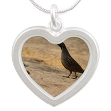 quailfamilycalendar Silver Heart Necklace