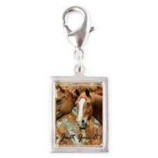 just you and me3 Silver Portrait Charm