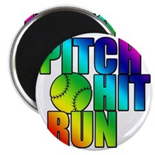 pitch hit and run Magnet