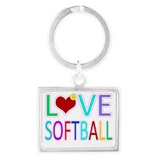 LOVE Softball Landscape Keychain