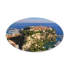 Monaco Castle Oval Car Magnet