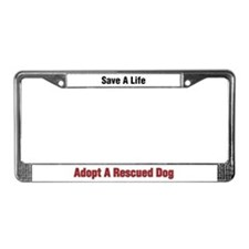 Cute Save a dog License Plate Frame