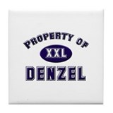 Property of denzel Tile Coaster