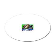 threeboys-031-leftshadow 20x12 Oval Wall Decal