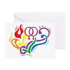 LGBT-Love-Is-Love-blk Greeting Card