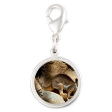 A Yellow-Footed Rock Wallaby Silver Round Charm