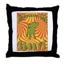 Groovy Chihuahua Throw Pillow