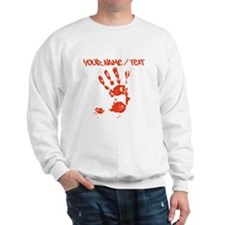 Red Hand Print Sweatshirt