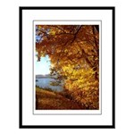 Leaves and Water Large Framed Print