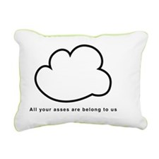 Cloud computing black te Rectangular Canvas Pillow