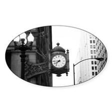 bw marshall fields clock Decal