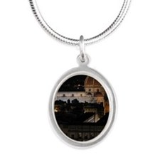 Duomo (Florence Cathedral) at Silver Oval Necklace