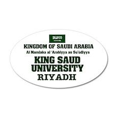 SAUDI ARABIA - KING SAUD UNI 35x21 Oval Wall Decal