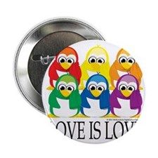 "Love-Is-Love-Penguins-Stacked 2.25"" Button"