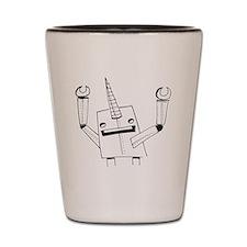 Robot Narwhal Shot Glass