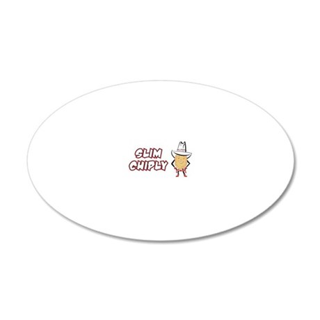 SlimChiply_SlimWhite 20x12 Oval Wall Decal