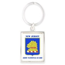 NEW JERSEY  ANG with text Portrait Keychain