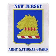 NEW JERSEY  ANG with text Throw Blanket