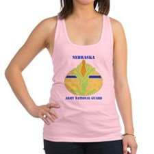 NEBRASKA  ANG with text Racerback Tank Top
