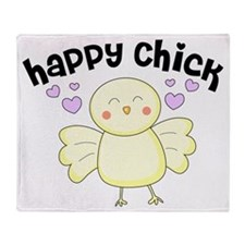 Happy Chick Throw Blanket