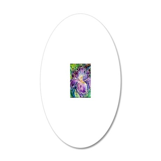 Iris! Beautiful, purple flow 20x12 Oval Wall Decal