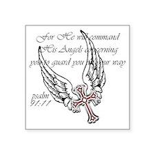 "angels Square Sticker 3"" x 3"""