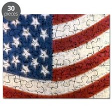 USA FLAG SQUARE vintage Puzzle