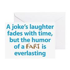 Fart humor dark Greeting Card