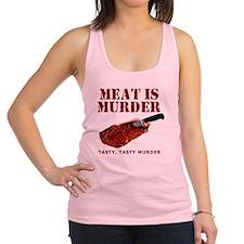 Meat is Murder Tasty Tasty Murd Racerback Tank Top