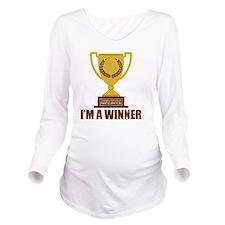 winner Long Sleeve Maternity T-Shirt
