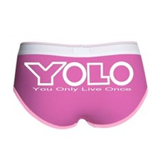 YOLO2pngwhite Women's Boy Brief