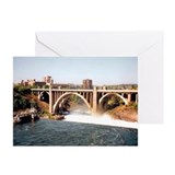 Spokane Falls Monroe St. Brid Greeting Cards (Pack