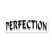 PERFECTION BLACK Car Magnet 10 x 3