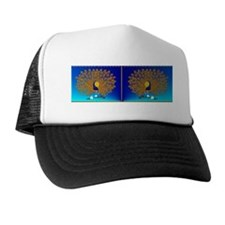 bev-Peacock and Roses Trucker Hat
