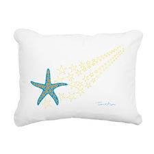 Shooting Starfish Rectangular Canvas Pillow